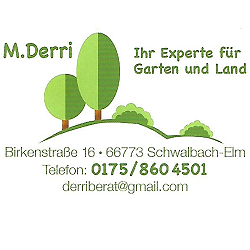 M. Derri - Ihr Experte für Garten und Land - Schwalbach-Elm - Tel.: 0175 8604501